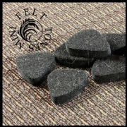 Felt Tones Mini - Black - 1 Ukulele Pick | Timber Tones